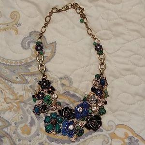 White House Black market floral necklace